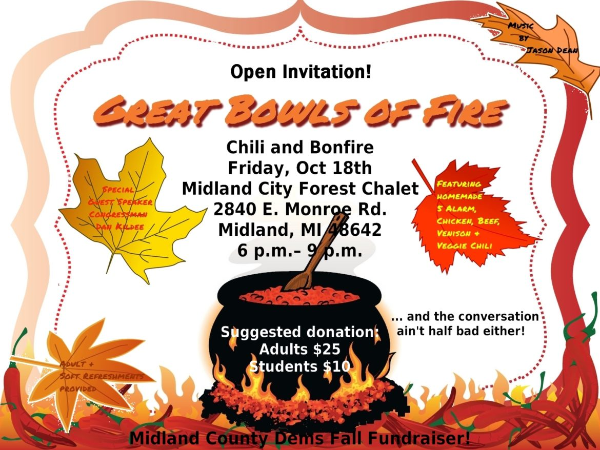 MCDP Chili and Bonfire Fall Fundraiser @ Midland City Forest Chalet | Midland | Michigan | United States